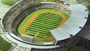 Estádio Nacional no Zimpeto em Maputo, palco da primeira mão do jogo entre o Ferroviário e os quenianos do Gor Mahia
