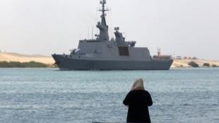 La frégate «Courbet» de la marine nationale, ici dans le canal de Suez en 2013 (illustration).