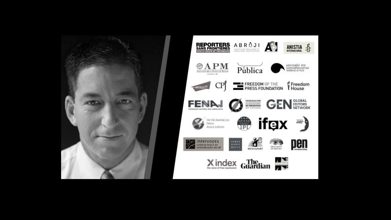 ONGs e veículos da imprensa se uniram em apoio ao site The Intercept Brasil e seu fundador, o americano Glenn Greenwald (foto).