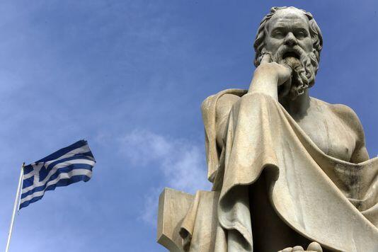 Tượng nhà hiền triết Socrate, tại thủ đô Athens.