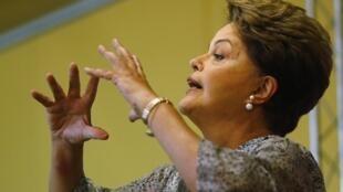 A presidente do Brasil, Dilma Rousseff.