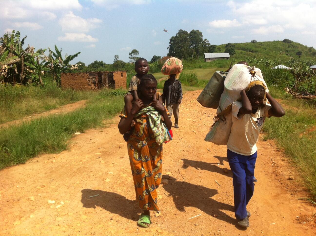 Dans le Nord-Kivu, à Buleusa, les habitants avaient fui leur village brûlé dans des attaques de groupes armés.