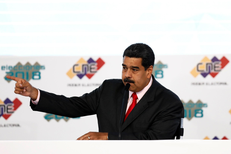 Tổng thống Venezuela Nicolas Maduro, trong lễ mừng tái đắc cử, Caracas, ngày 22/05/2018