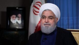 El presidente de Irán, Hassan Rohani en una entrevista a la televisión de su país, Teherán 6 de agsoto 2018.