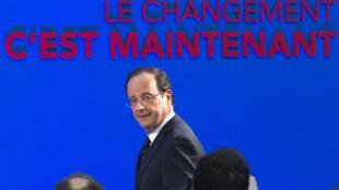 'El cambio es ahora': François Hollande, este jueves 26 de enero en París.