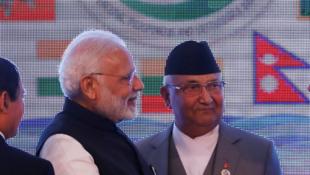 印度總理莫迪與尼泊爾總理奧利2018年8月30日加德滿都