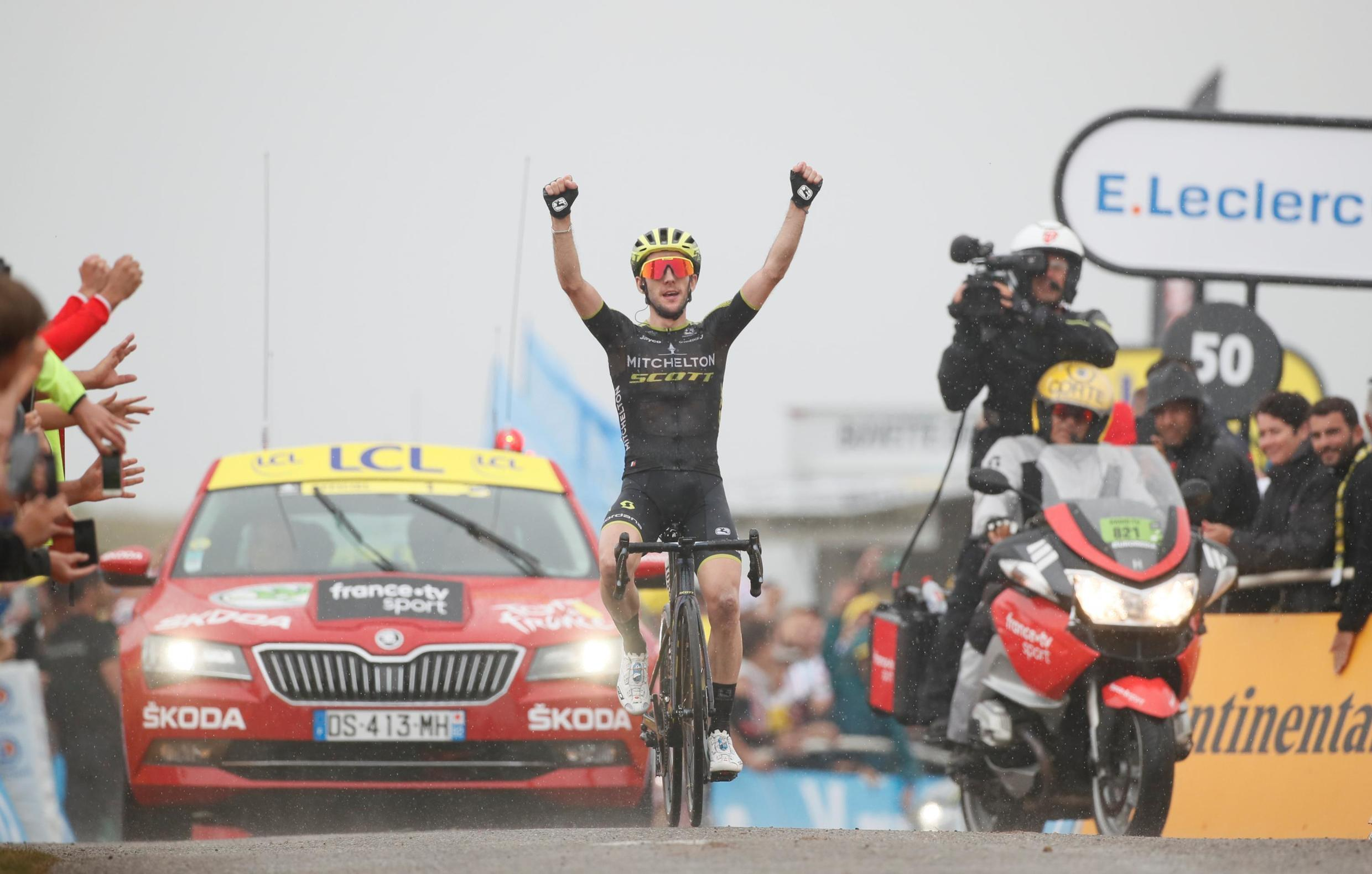 Simon Yates takes his second win of the 2019 Tour de France on the 185-km stage 15 from Limoux to Foix Prat d'Albis, 21 July 21, 2019