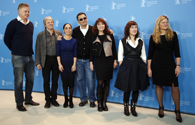 Membros do júri posam antes do início da 63ª edição da Berlinale.
