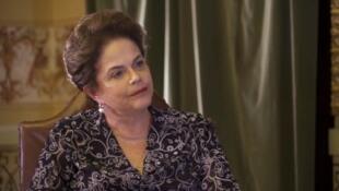 Ex-presidente Dilma Rousseff, em entrevista exclusiva para o canal France 24.