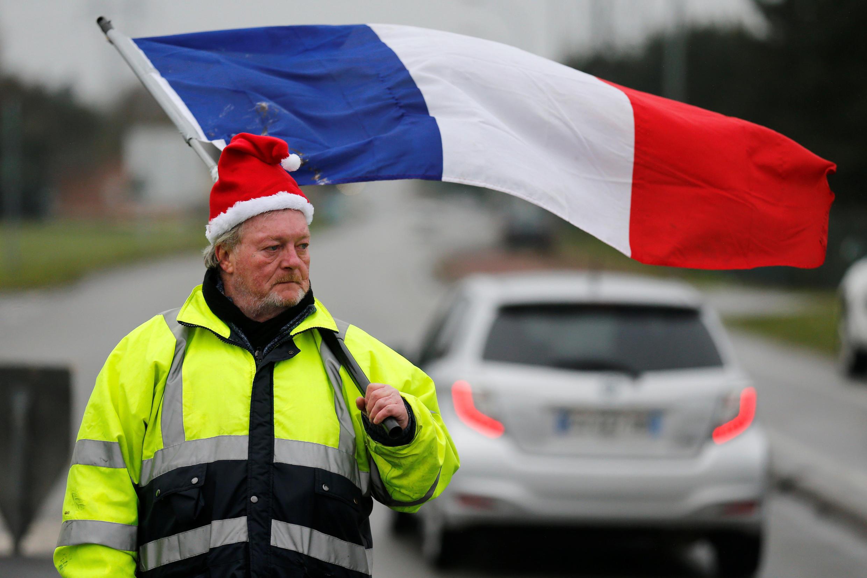 Los 'chalecos amarillos', una protesta inédita que tomó por sorpresa al presidente francés. nter mobilização em toda a França.