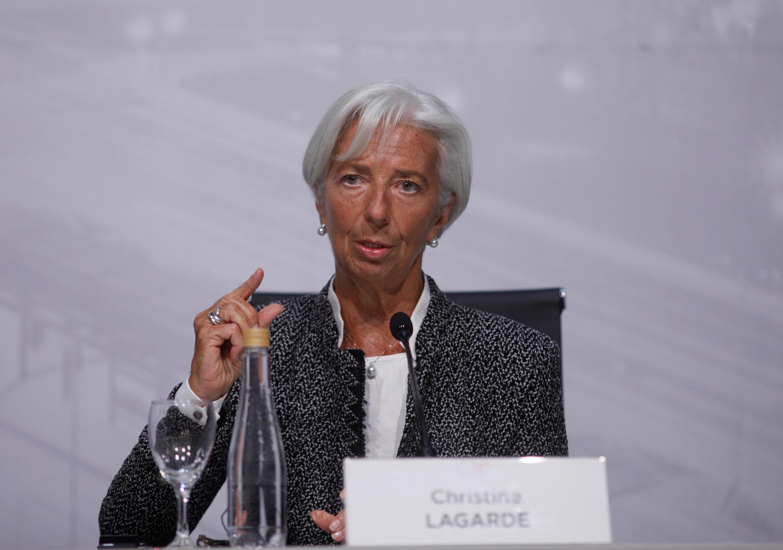 La directora del Fondo Monetario Internacional, Christine Lagarde, asiste a una conferencia de prensa en Buenos Aires, Argentina, el 21 de julio de 2018.
