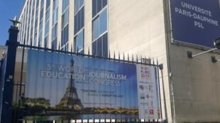 Le 5e Congrès mondial de l'enseignement du journalisme se tenait du 9 au 11 juillet 2019 à l'Université Paris-Dauphine.