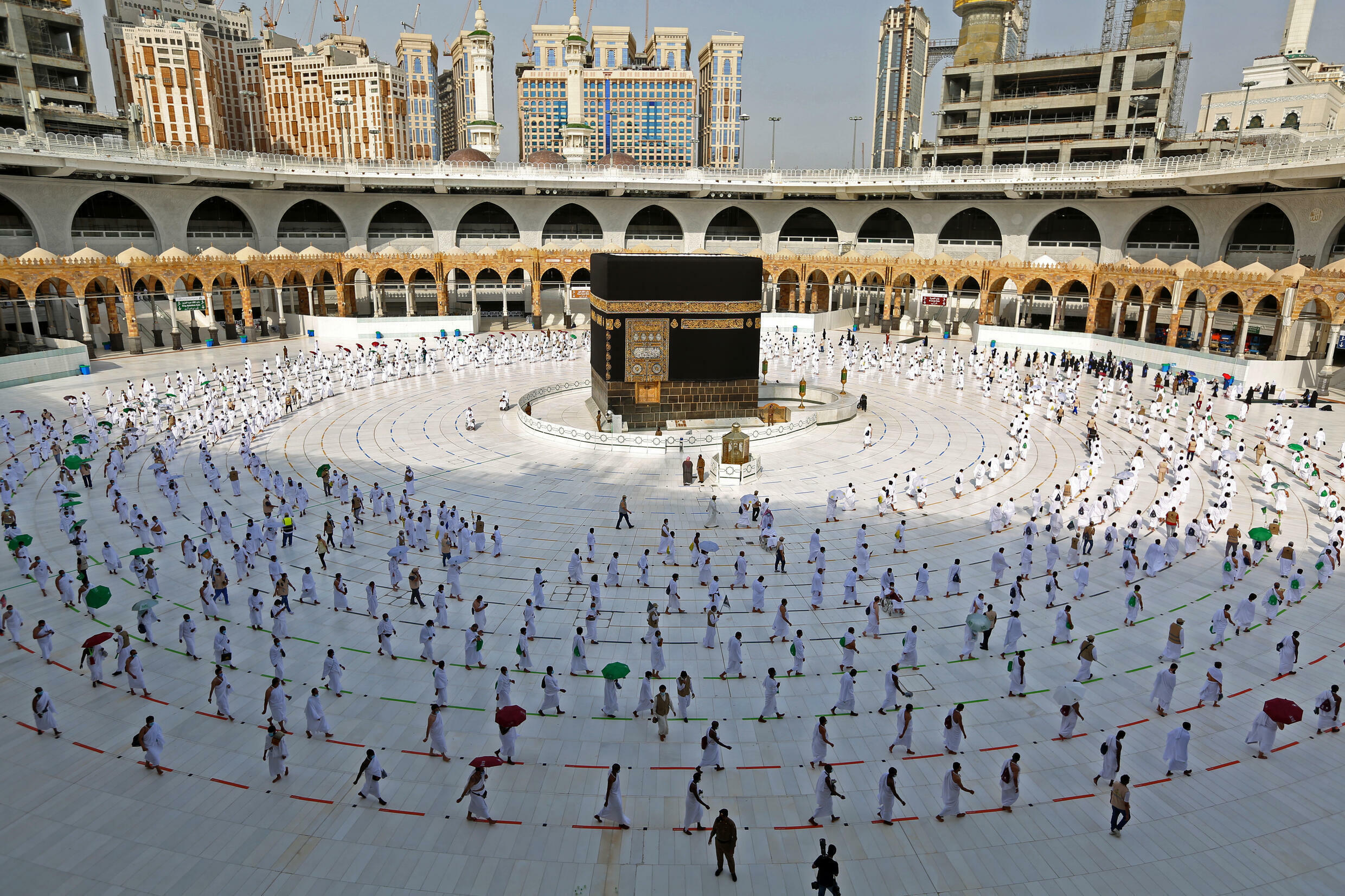 Distanced pilgrims: for the second year running, the hajj pilgrimage has been dramatically downscaled from normal times