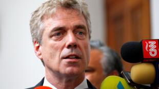 L'ambassadeur allemand Martin Kriener était venu accueillir l'opposant Juan Guaido à son retour à Caracas, le lundi 4 mars 2019.