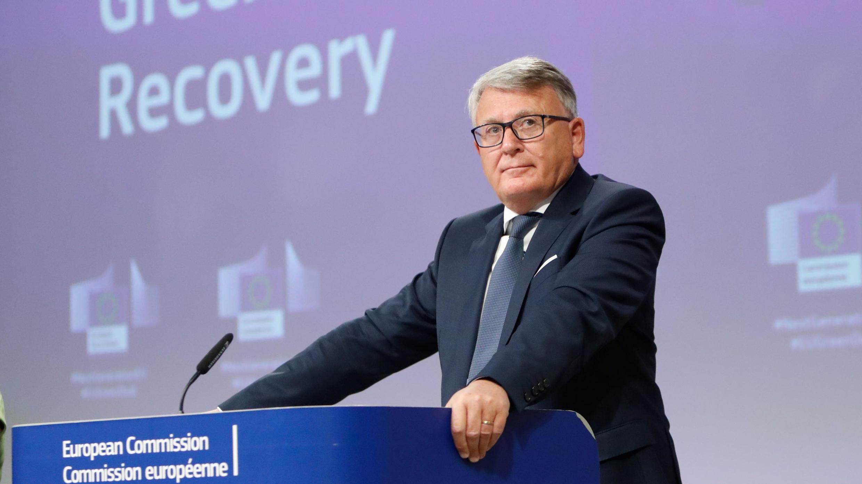 Nicolas Schmit, commissaire européen en charge de l'emploi et des droits sociaux, à Bruxelles, le 28 mai 2020.