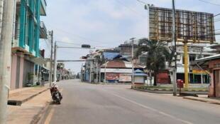 Phong trào phản đối đảo chính tổ chức ngày đình công - thành phố chết, tại Rangoon, Miến Điện, ngày 24/03/2021.