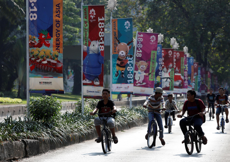 Jakarta - thủ đô Indonesia - đã sẵn sàng để đón Á Vận Hội 2018. Ảnh chụp ngày 15/07/2018.