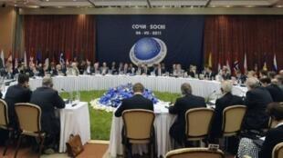 Một cuộc họp của Hội đồng NATO-Nga tháng 7/2011 tại Sotchi, Nga.