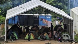 Poste frontière de La Peñita avec la Colombie dans le Darien. Un village où passent de nombreux migrants dans leur périple vers les Etats-Unis (illustration), août 2019.