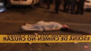 Escena de crimen en San Pedro Sula, Honduras, una de las ciudades más violentas del planeta.