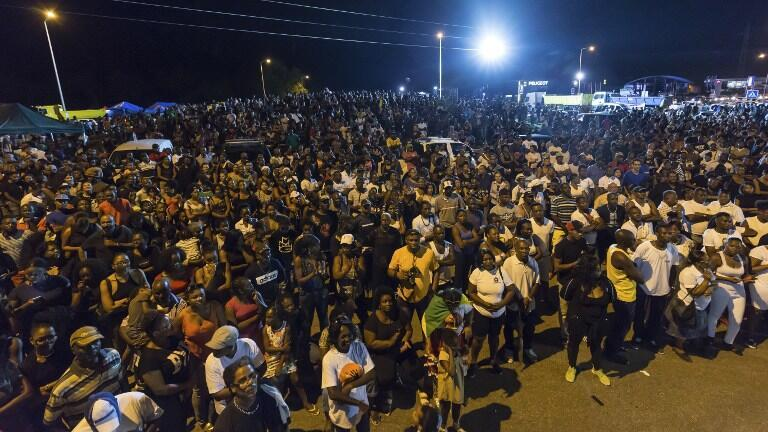 Манифестация недовольства во французской Гвиане 25 марта 2017.