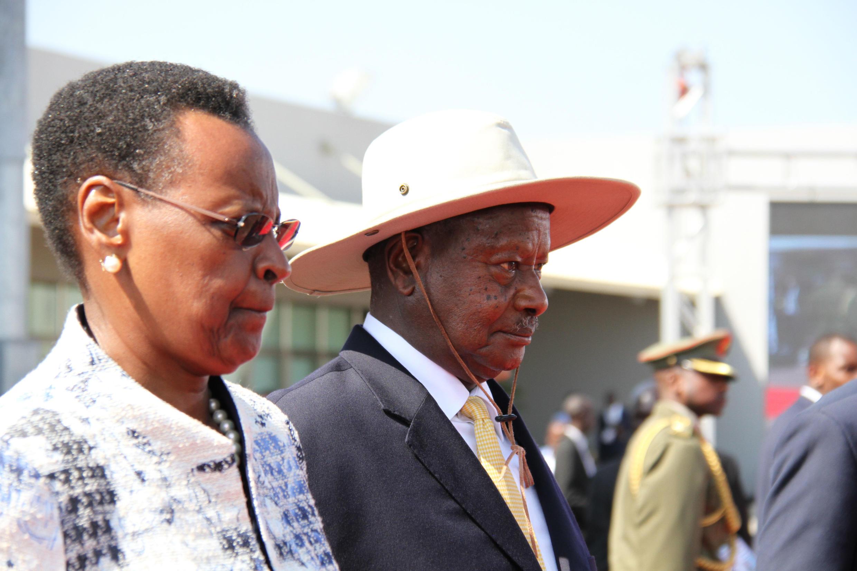 Rais wa Uganda Yoweri Museveni na mkewe  Janet Musesveni