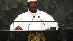 Yaya Jammeh, le président gambien au siège des Nations Unies à New York, en décembre 2015.