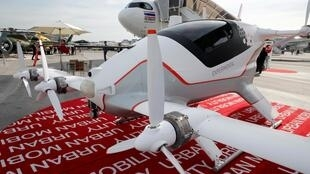 Vahana, an experimental flying taxi by Airbus, is seen on static display during the 53rd International Paris Air Show at Le Bourget Airport near Paris.