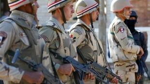 Les forces militaires égyptiennes dans le Nord-Sinaï, le 1er décembre 2017 (illustration).