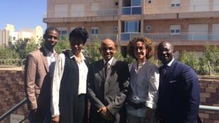 De gauche à droite: Hamidou Anne, Fatoumata Sangho, Mossadeck Bally, Emmanuelle Bastide et Didier Acouetey.