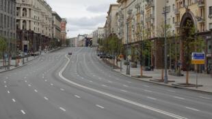 俄羅斯莫斯科疫情下街景 2020年5月8日  照片