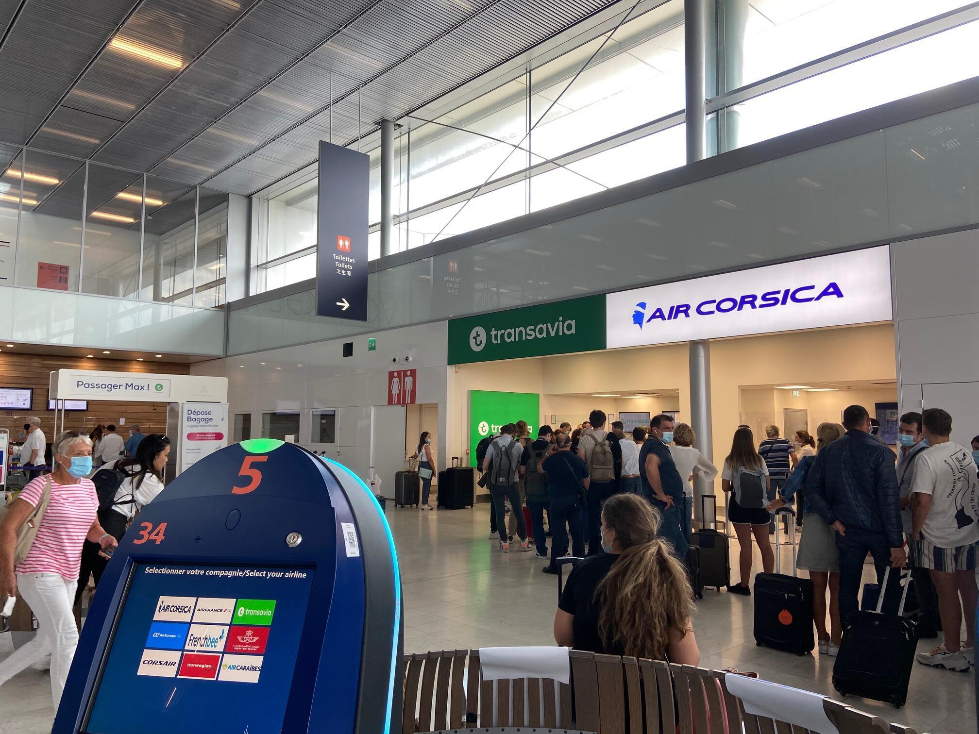 Aeroporto de Orly no dia da sua reabertura a 26 de Junho de 2020.