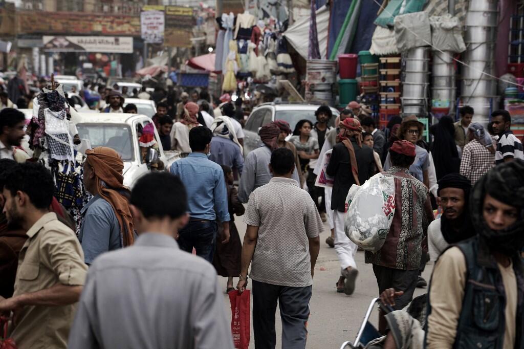 Marché dans la ville de Marib, au Yémen
