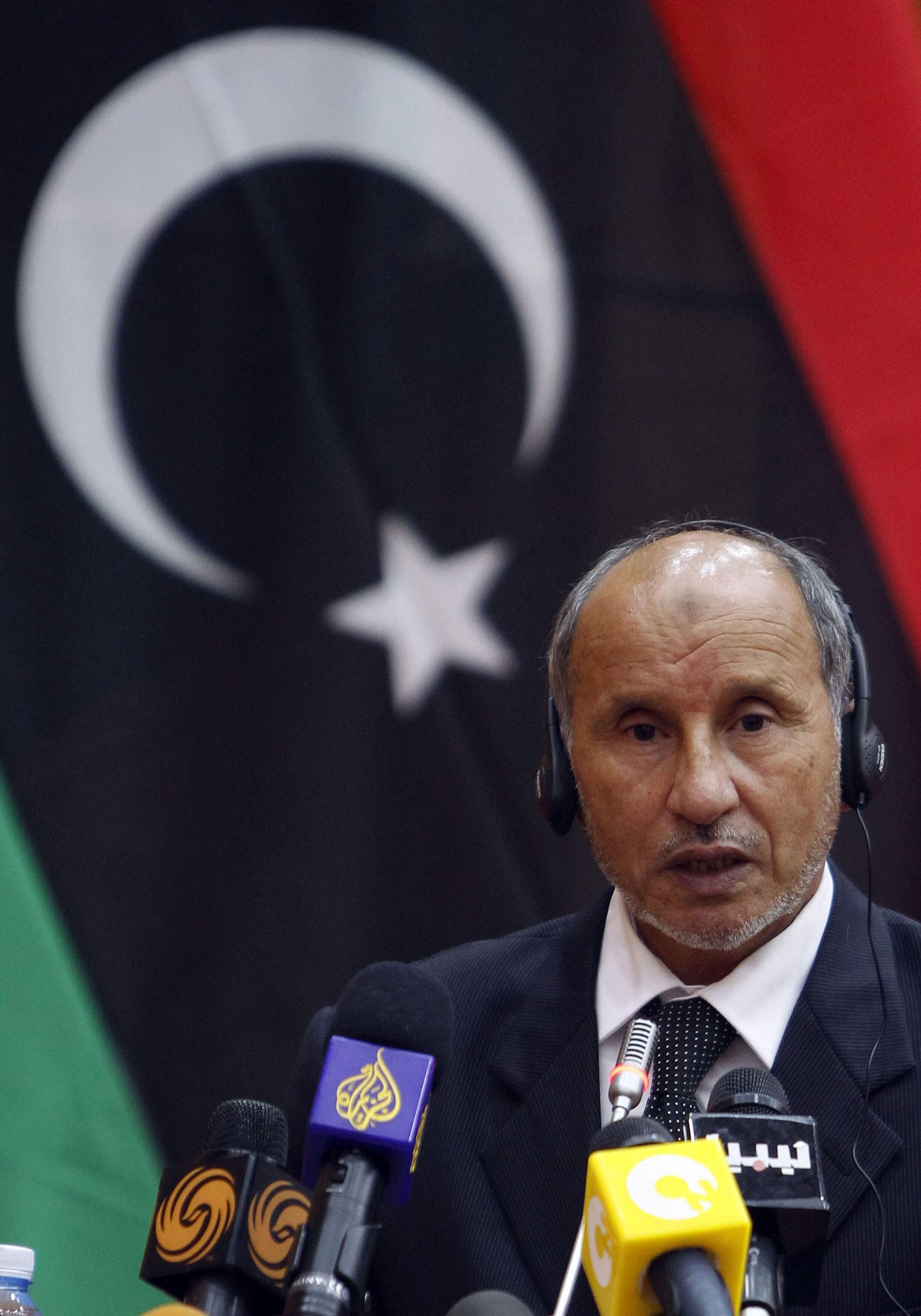 Председатель Национального переходного совета Мустафа Абдельджалиль