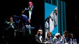 Rodrigo Londono, conhecido como Timochenko, durante discurso no Congresso das FARC em Bogotá, em 27 de agosto de 2017.