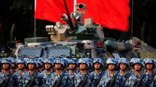 Military parade in Hong Kong