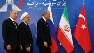 اردوغان، روحانی و پوتین در اجلاس تهران