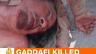 Kadhafi's corpse on Al Jazeera TV