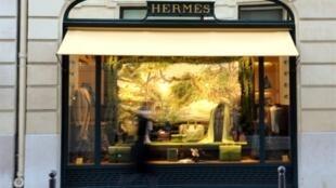 Une boutique Hermès à Paris.