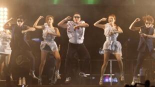 O cantor sul-coreano Psy