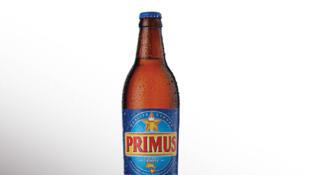 La bière Primus de la brasserie de Bralima en RD Congo.