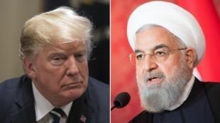 حسن روحانی و دونالد ترامپ رؤسای جمهوری ایران و آمریکا