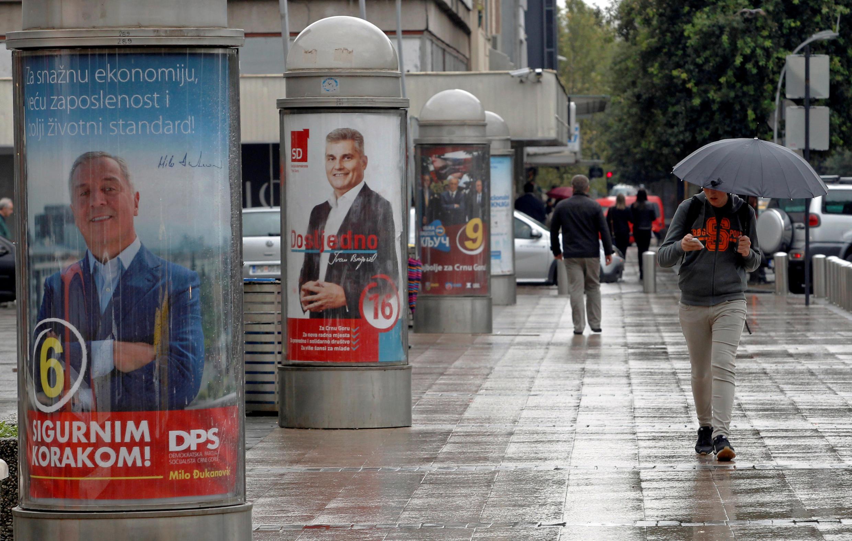 Dans une rue de Podgorica, au Montenegro le 6 octobre 2016.