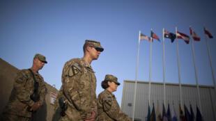 Памятная церемония на военной базе США в Баграме, к северу от Кабула