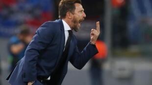Mai horar da kungiyar AS Roma Eusebio Di Francesco.