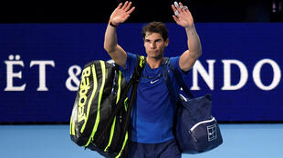 Rafael Nadal said his season was over after injuries to his knees hampered his movement during his loss to David Goffin.