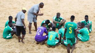 L'équipe du Sénégal de beach soccer au Mondial 2019.