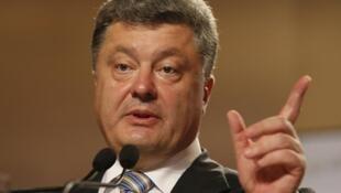 O presidente ucraniano, Petro Porochenko.