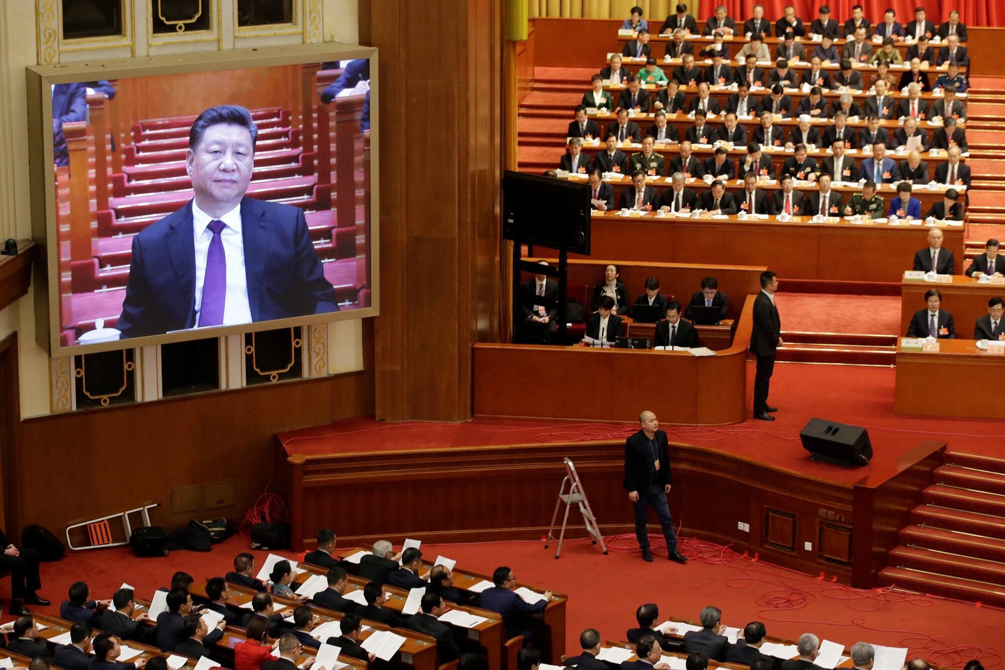 Chủ tịch Trung Quốc Tập Cận Bình phát biểu tại Hội nghị hiệp thương chính trị nhân dân Trung Quốc, Bắc Kinh, ngày 03/03/2019