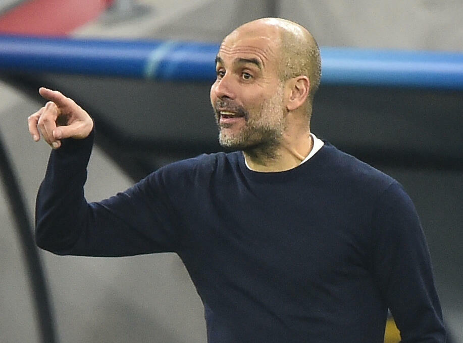 Manchester City manager Pep Guardiola is trying to lead the club to a third Premier League title in four years.